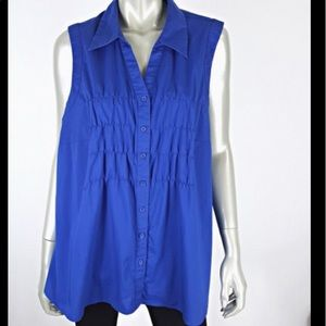 NWT🏷Lane Bryant 14/16 Sleeveless rouched Top